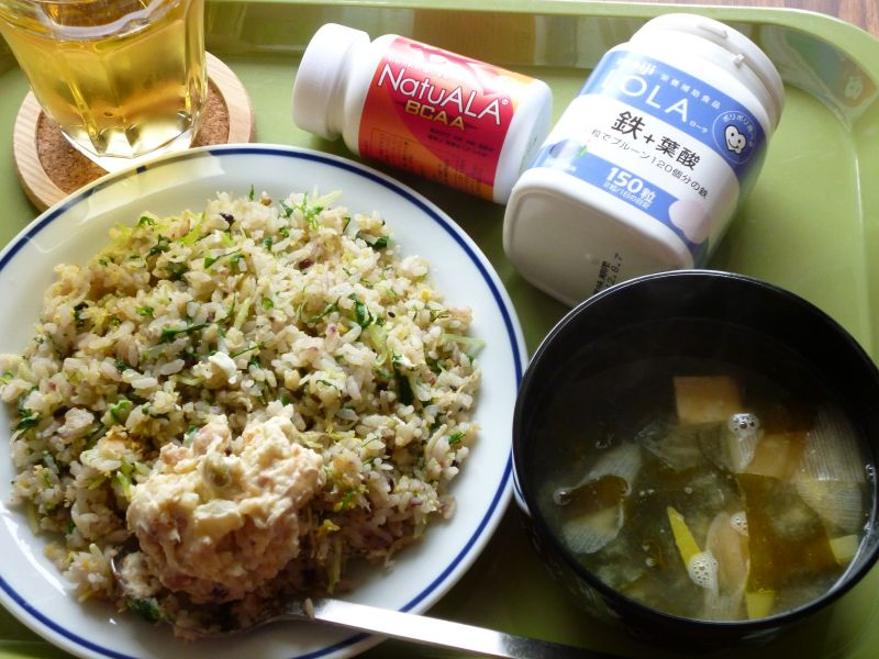 しらすと水菜の炒飯