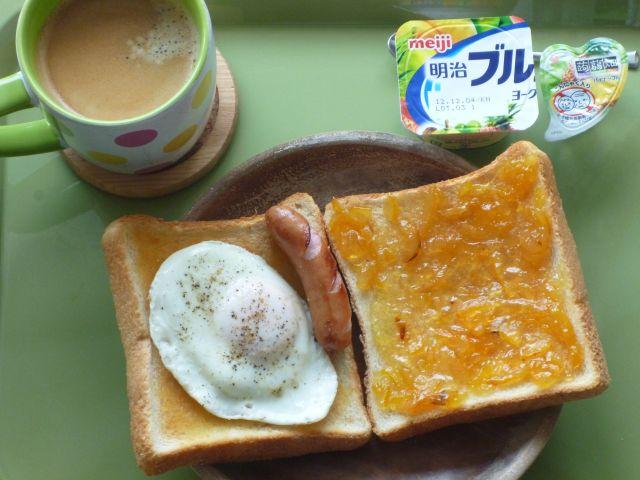 柚子ジャム トースト