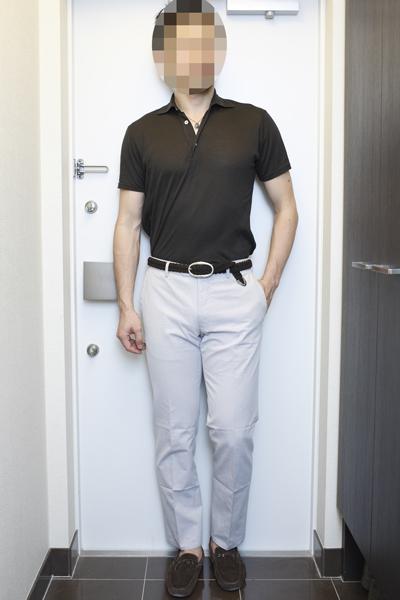 同系色ポロシャツ(イエロー、ブロンド、ブラウン)のコーディネート(1) | ORIAN & Drumohr