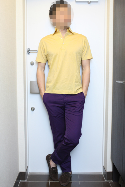 同系色ポロシャツ(イエロー、ブロンド、ブラウン)のコーディネート(2) | ORIAN & Drumohr