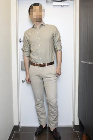 ベージュシャツのコーディネート | Finamore SERGIO