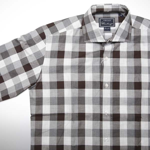 秋冬モノの裏リスト | Orian ブロックチェックシャツ