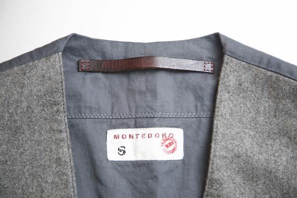 秋冬モノの裏リスト(2) | Montedoro RED フランネルウールジレ