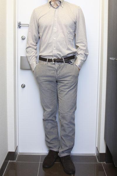 【要画像・要文章】グレーパンツのイメージの違いとコーディネート~ブラウンシャツ編 | Incotex RED & PT01