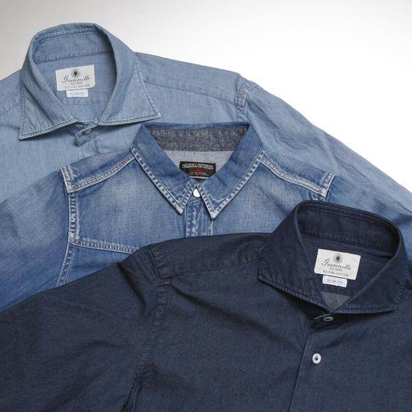春、青き衣をまといて~続・春はシャツの気分(2) | Sunny Sports & Giannetto Portofino デニムシャツ