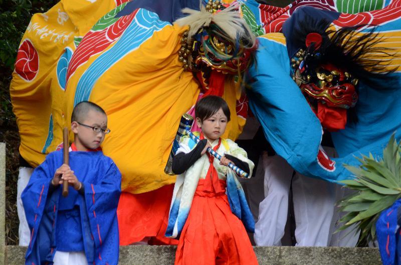 今治市 春祭り 矢田三島神社 矢田獅子保存会