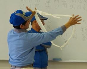 薄葉紙での紐の作り方