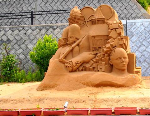 砂の彫刻1