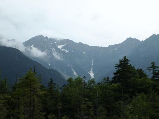 上高地の山