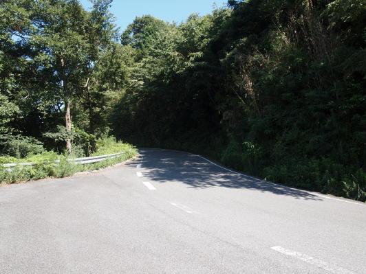 狭い道の山頂からの景色