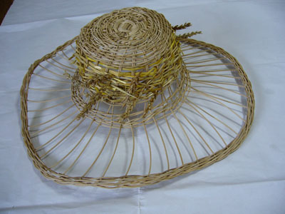 草編み帽子 1
