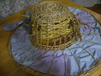 草編み帽子 2