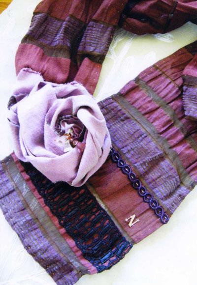バラの秋色スカーフ