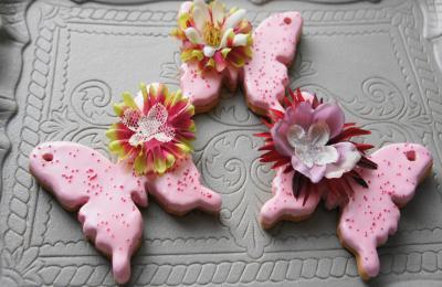 蝶 アイシングクッキー