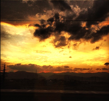福島の明日にゆく夕日