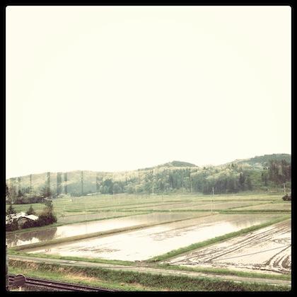 新花巻駅裏の景色
