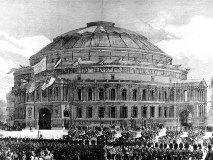 1871年のロイヤル・アルバート・ホールのオープニングセレモニー