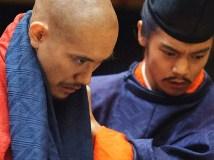 清盛(松山ケンイチ )と嫡男・平重盛(窪田正孝 )NHK