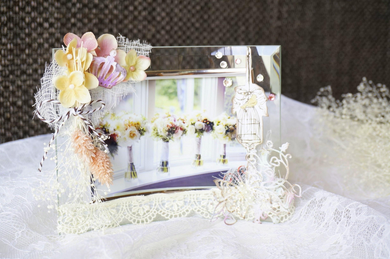 ガラスフォトフレーム花束