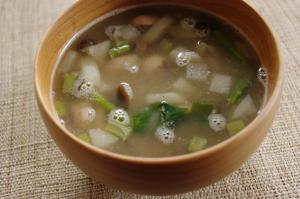 虎豆とカブのスープ