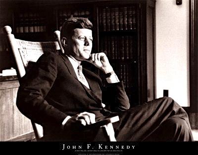 休憩中のジョン・f-・ケネディ