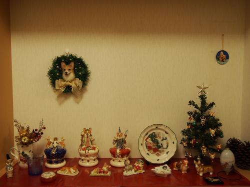 玄関クリスマスにー