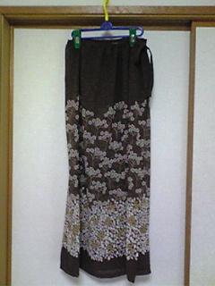 巻きスカート(茶)