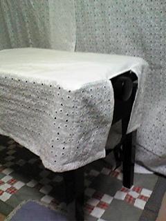 ピアノ椅子カバー(横長)