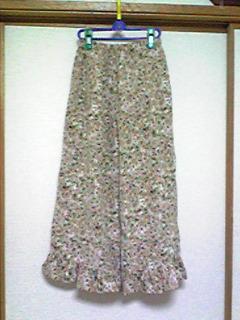 スカート→キュロット(花柄)1
