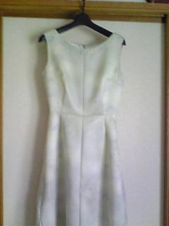 着物ドレス(シルバー小紋)1