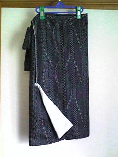 ウールの防寒着→巻きスカート1