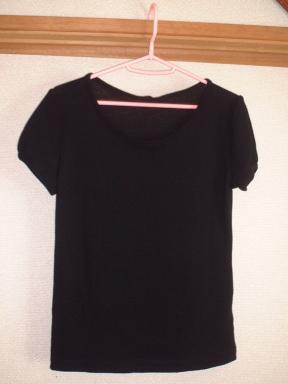 パフスリーブTシャツ(黒)