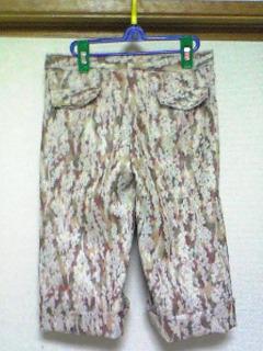 着物リメイクパンツ(赤茶系)2
