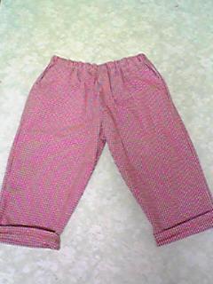 パンツ2本(赤チェック、グリーン)2