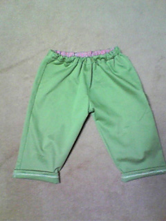 パンツ2本(赤チェック、グリーン)5