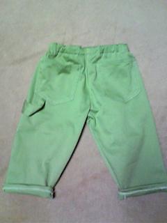 パンツ2本(赤チェック、グリーン)6