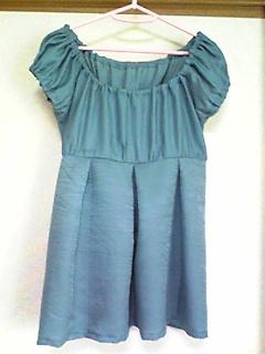 羽織(灰青)→スモックブラウス2