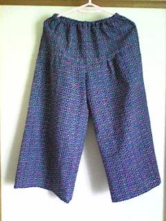 浴衣(紺)→キュロットパンツ