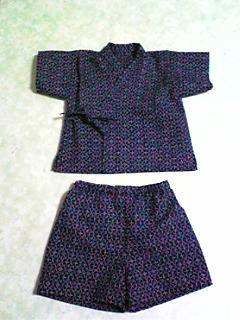 浴衣(紺)→子供用甚平