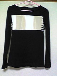 ハギレTシャツ(黒と縦ボーダー)(100418)_01
