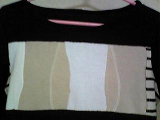 ハギレTシャツ(黒と縦ボーダー)(100418)_02