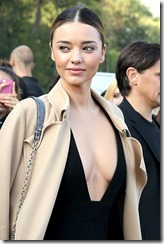 Australian fashion model Miranda Kerr attends Louis Vuitton SS 2015 at Fondation Louis Vuitton on October 1, 2014 in Paris, France