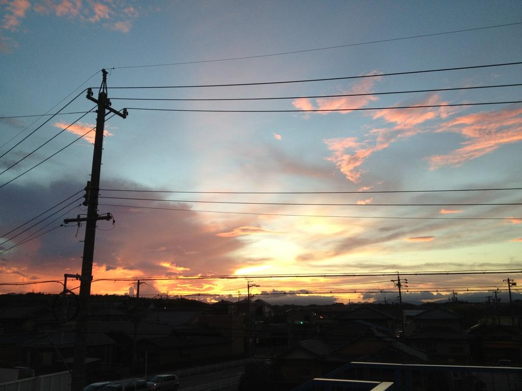 20120821夕焼け