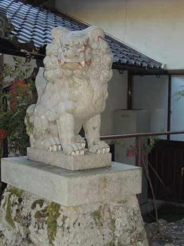 天河神社裏吽形
