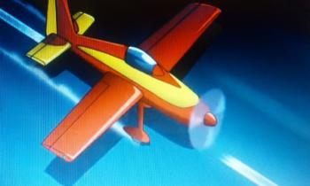 アニメフウロ 飛行機到着
