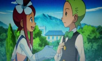 アニメフウロ 握手を求めるフウロさん
