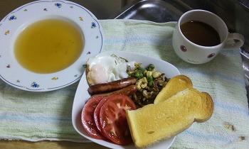 人類朝食 完成
