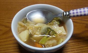 野菜スープ 完成