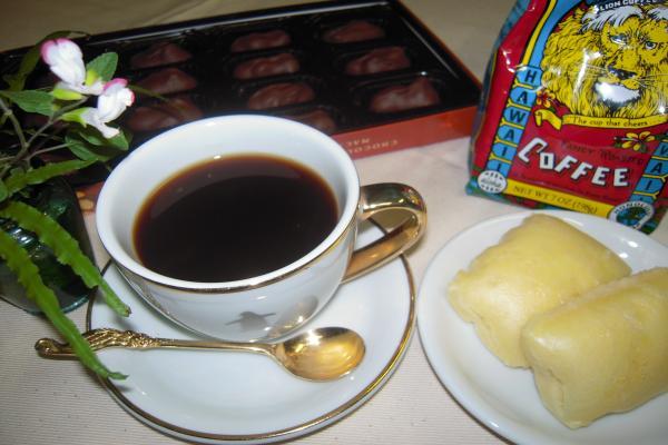 コーヒーとチョコと練乳蒸しパン