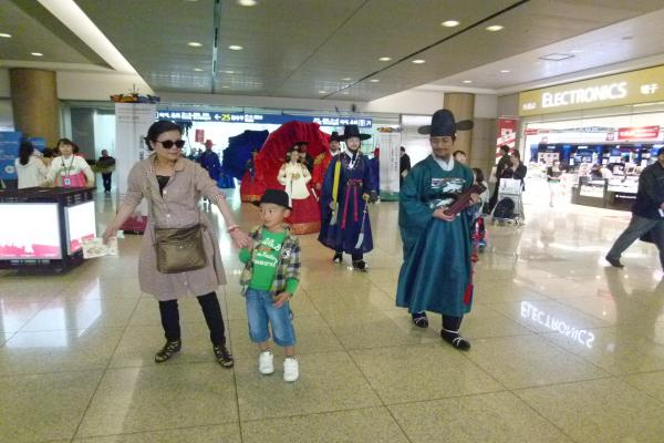 韓国で時間待ち